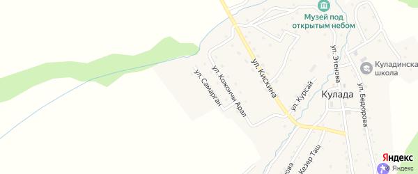 Улица Самарган на карте села Кулады Алтая с номерами домов