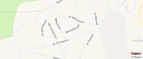 Весенний переулок на карте Салаира с номерами домов