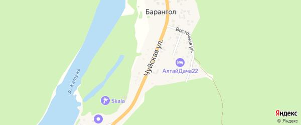 Чуйская улица на карте поселка Барангола Алтая с номерами домов