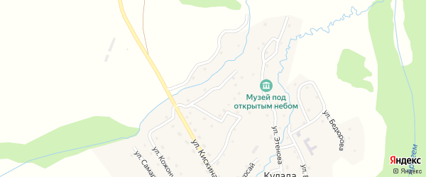 Улица А.Мандаева на карте села Кулады Алтая с номерами домов