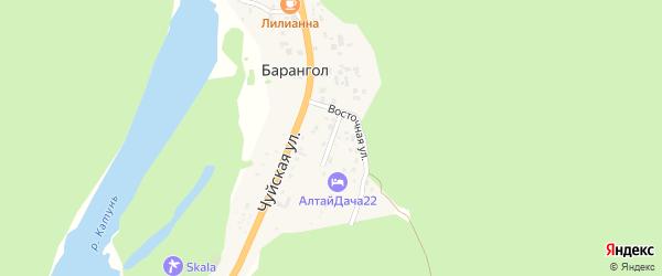 Луговая улица на карте поселка Барангола Алтая с номерами домов