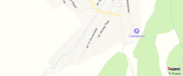 Улица У.Окчинова на карте села Кулады Алтая с номерами домов