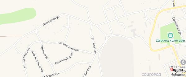 Улица Фрунзе на карте Салаира с номерами домов
