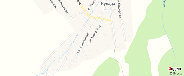 Улица Кезер Таш на карте села Кулады Алтая с номерами домов
