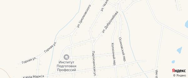 Улица Добролюбова на карте Салаира с номерами домов