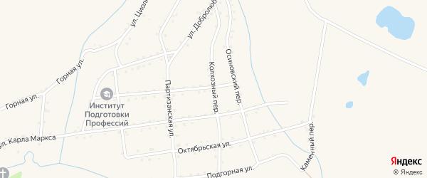 Колхозный переулок на карте Салаира с номерами домов