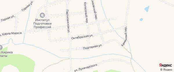 Октябрьская улица на карте Салаира с номерами домов