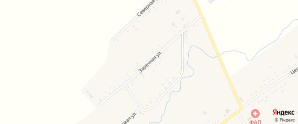 Заречная улица на карте села Камышино Кемеровской области с номерами домов