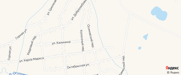 Осиновский переулок на карте Салаира с номерами домов