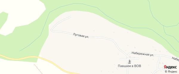 Луговая улица на карте села Тихонькой Алтая с номерами домов
