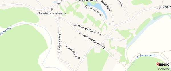 Улица Братьев Кравченко на карте села Шебалино Алтайского края с номерами домов