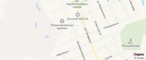 Кооперативная улица на карте Салаира с номерами домов