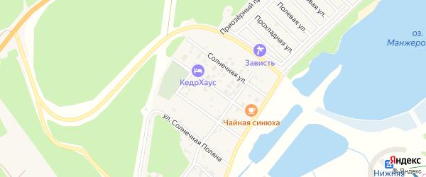 Озерная улица на карте Озерного села Алтая с номерами домов
