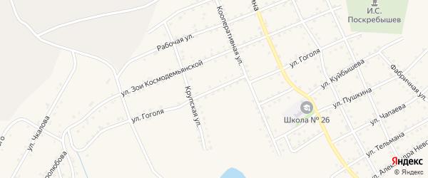 Улица Гоголя на карте Салаира с номерами домов