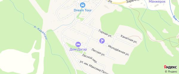 Молодежная улица на карте Озерного села Алтая с номерами домов