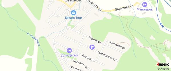 Горная улица на карте Озерного села Алтая с номерами домов