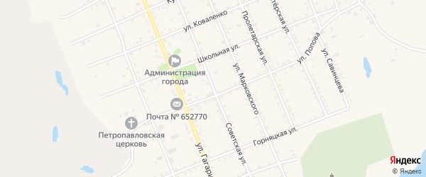 Советская улица на карте Салаира с номерами домов