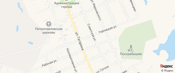 Горняцкая улица на карте Салаира с номерами домов