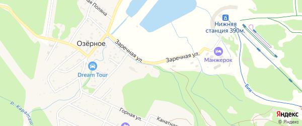 Заречная улица на карте Озерного села Алтая с номерами домов