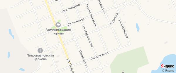 Улица Марковского на карте Салаира с номерами домов