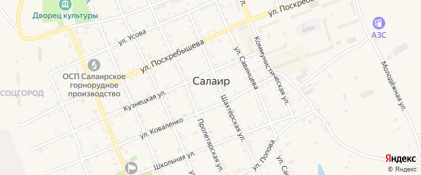 Улица Л.Толстого на карте Салаира с номерами домов