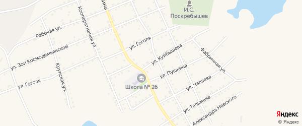 Улица Куйбышева на карте Салаира с номерами домов