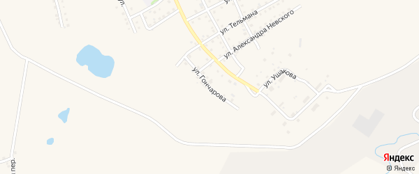 Улица Гончарова на карте Салаира с номерами домов