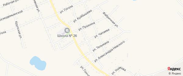 Улица Чапаева на карте Салаира с номерами домов