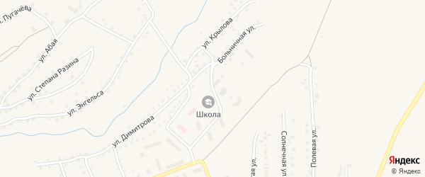 Больничная улица на карте Салаира с номерами домов