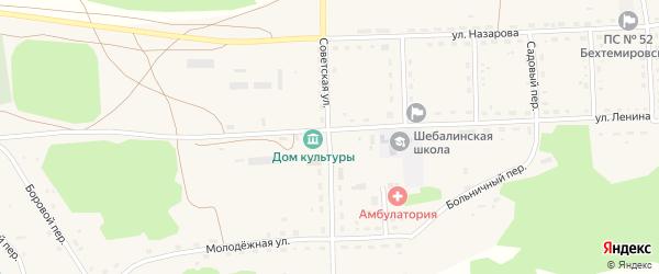 Советская улица на карте села Шебалино с номерами домов