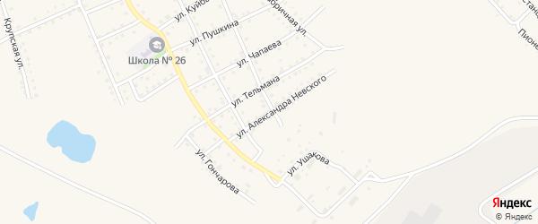 Улица А.Невского на карте Салаира с номерами домов