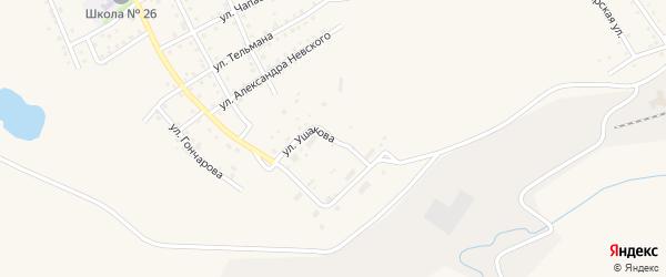 Улица Ушакова на карте Салаира с номерами домов