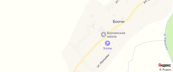 Улица Ямыл Тужумеева на карте села Боочи Алтая с номерами домов
