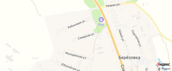 Северная улица на карте села Березовки Алтайского края с номерами домов