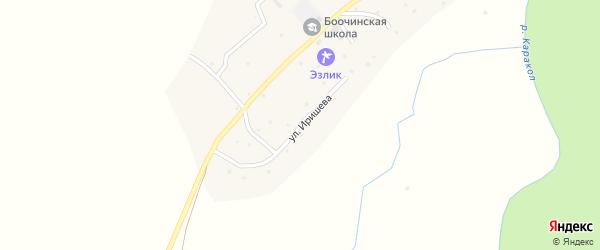 Улица Э.Иришева на карте села Боочи Алтая с номерами домов