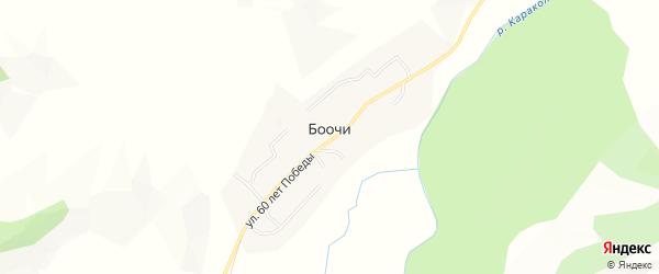 Карта села Боочи в Алтае с улицами и номерами домов