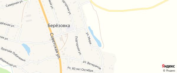 Улица Мира на карте села Березовки с номерами домов