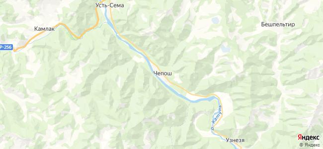 Чепош на карте