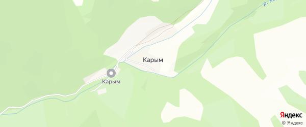 Карта поселка Карыма в Алтае с улицами и номерами домов
