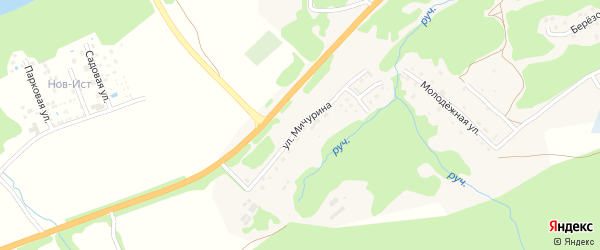 Улица Мичурина на карте села Соузги Алтая с номерами домов