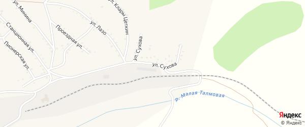 Улица Сухова на карте Салаира с номерами домов