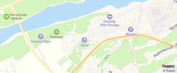 Новый переулок на карте села Соузги Алтая с номерами домов