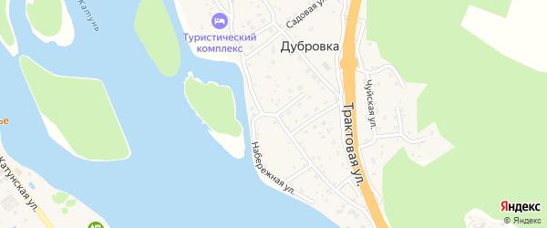 Сибирская улица на карте поселка Дубровки Алтая с номерами домов