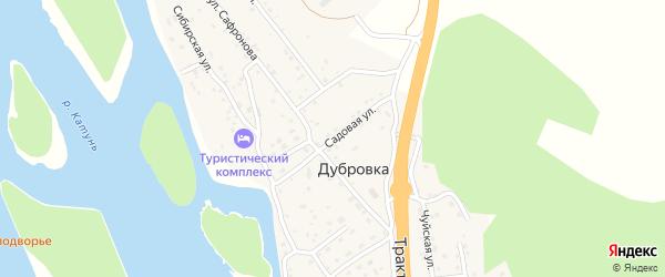 Садовая улица на карте поселка Дубровки Алтая с номерами домов