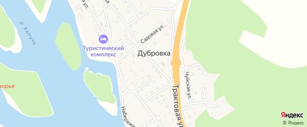 Школьная улица на карте поселка Дубровки Алтая с номерами домов