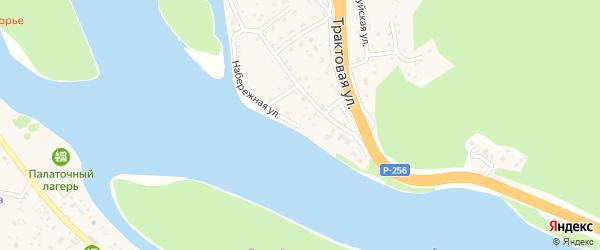 Набережная улица на карте поселка Дубровки Алтая с номерами домов
