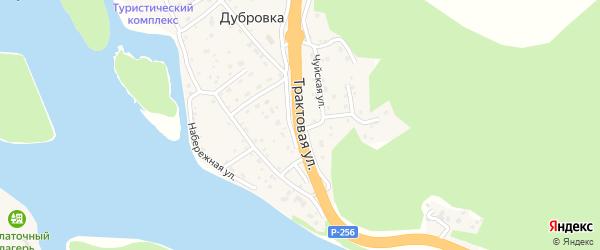 Трактовая улица на карте поселка Дубровки Алтая с номерами домов