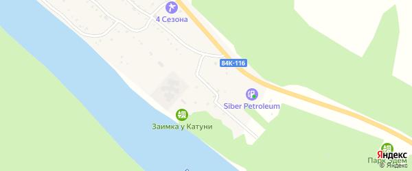 Молодежная улица на карте села Чепош Алтая с номерами домов