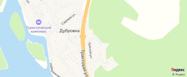 Горный переулок на карте поселка Дубровки Алтая с номерами домов