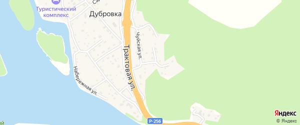 Лесной переулок на карте поселка Дубровки Алтая с номерами домов